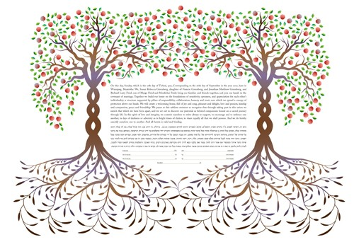 Apple Trees Ketubah